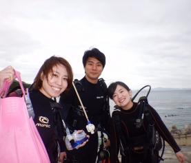 3/23 沖縄北部 体験ダイビング リピーター様と一緒に♡