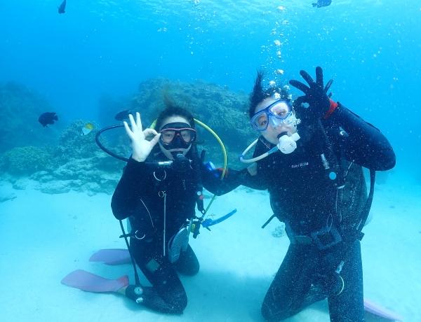 3/11 沖縄北部 体験ダイビング-新潟からのおふたりさま
